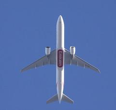 Emirates Boeing 777-300 A6-EQL DXB-STN FL90 EK65 UAE65
