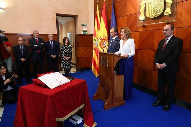 Toma de posesión de la Delegada del Gobierno Pilar Alegría