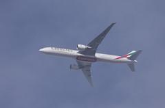 Emirates Boeing 777-31H(ER) A6-EQP FL80 EK65 UAE65 DXB-STN