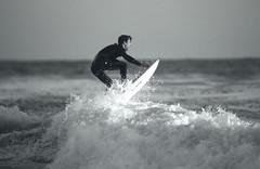 Surfer at Coal Oil Point