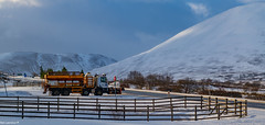Busy night for Mr Plow Keeping the A9 open threw The Pass of Drumochter to keep the News papers and food on the Shelfs of the Highlands.
