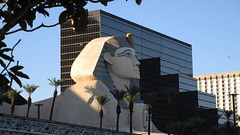 "Nevada - Las Vegas: The ""Sphinx"" in  dawn light @ LUXOR Egyptian stile hotel"