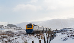 The 43132 Headed for Inverness at The Pass of Drumochter