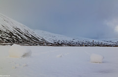 Nature (The Wind) Playing Mind games with the Snow in The Pass of Drumochter.