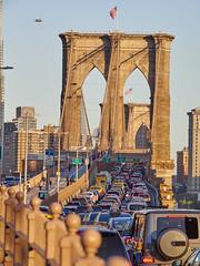 Brooklyn Bridge traffic jam