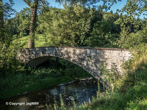 GLT520 Glattalstrasse Road Bridge over the Glatt River, Oberbüren - Flawil, Canton of St. Gallen, Switzerland