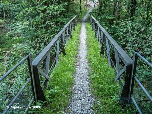 GLT530 Schwanzerweg Pedestrian Bridge over the Glatt River, Oberbüren - Flawil, Canton of St. Gallen, Switzerland