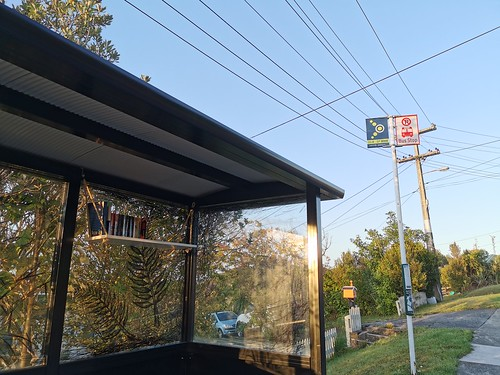 My suburb has a bus stop library!