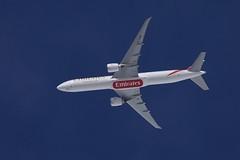 Emirates Boeing 777-31H(ER) A6-EQM DXB-STN EK65 UAE65 FL90