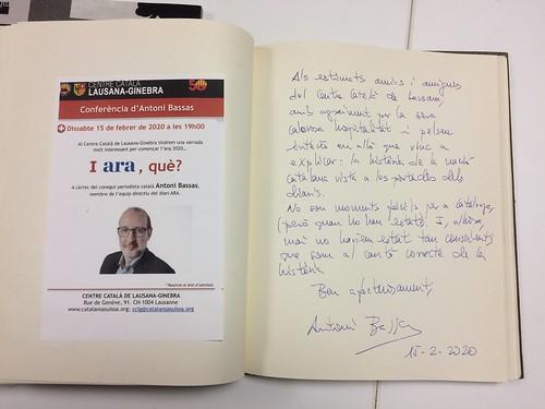 Conferència Antoni Bassas