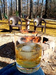 Sunday afternoon at the firepit with some Irish whiskey 😎