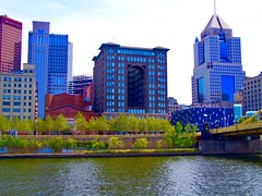 Pittsburgh Pennsylvania  - Allegheny River  Skyline  -  Renaissance Pittsburgh Hotel