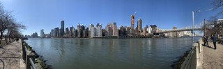 East River Panoramic view from Roosevelt Island