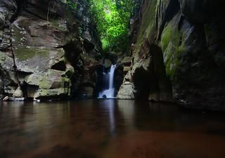 Songota Falls at dusk