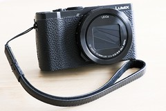 LUMIX LX9 (a.k.a LX15/LX10) + Ricoh GS-2 Leather Strap (With GR Logo).