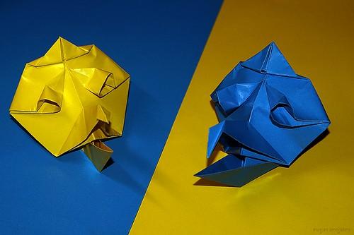 Origami Crow Billed Tengu Mask (Akira Yoshizawa)