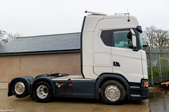 1 Of 2 New Scania 650s Home for N.j.Bremner (Grampian Continental) Before going for Painting ...