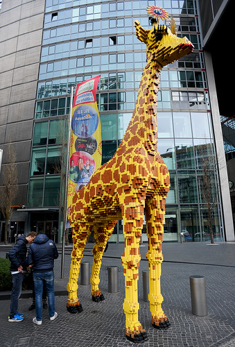 Giraffe Made Of Lego