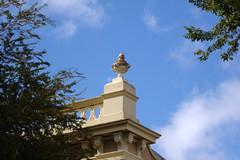 Mount Barker. Old 19th century roof top urn on a former shop.