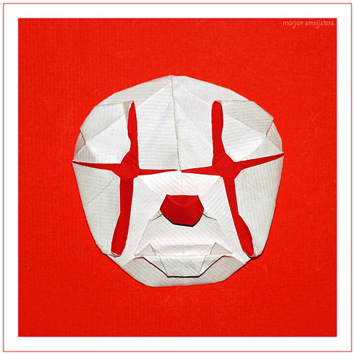 Origami Clown Mask (Hideo Komatsu)