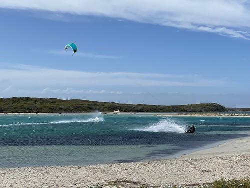 Kite surfers at Augusta