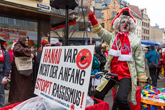 Stop Racism: start of shrove monday procession in Cologne with carnival association Pappnasen Rot-Schwarz
