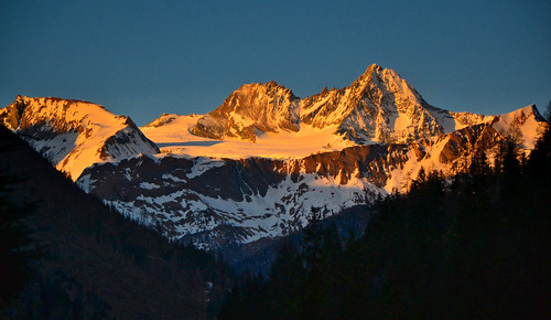 Sunset color on the south side of the Grossglockner