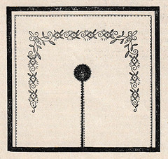 1927 embroidery pattern with centre hole