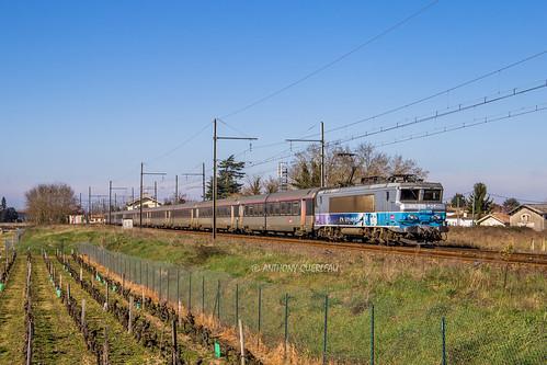 23 février 2020  BB 7391 Train 4663 Bordeaux-St-Jean -> Marseille-St-Charles  Preignac (33)