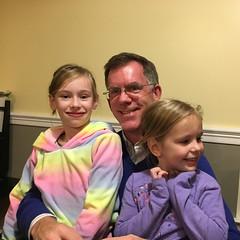 Cousins: Paul with Cassandra and Matilda