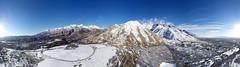 Alpine Utah 360 degree aerial panorama (42 pic stitch)