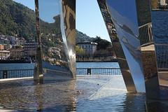 """Life Electric"" sculpture by Daniel Libeskind @ Diga Foranea Piero Caldirola @ Lake Como"