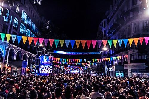 Noche de carnaval porteño