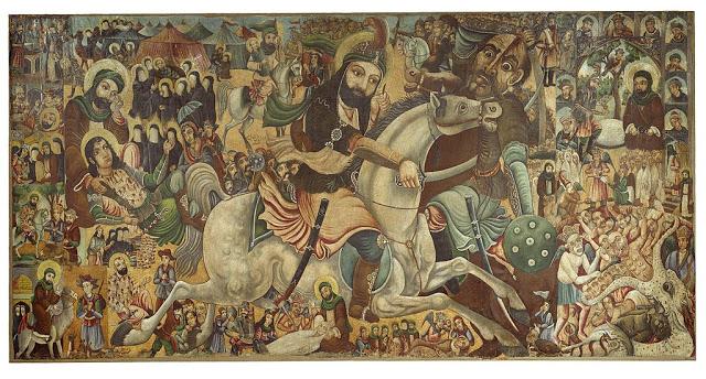 لوحة تجسد وقائع معركة كربلاء – متحف بروكلين