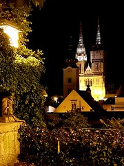 Zagreb Cathedral by night