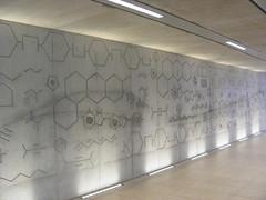 Organic chemical mural, Hackney Wick station