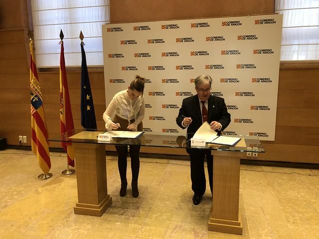 Firma Convenio AST- El Justicia de Aragón