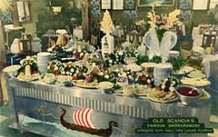 Old Scandia's Restaurant Opa-locka Vintage Postcard