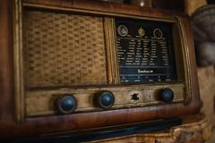 Vintage teak radio from 30s