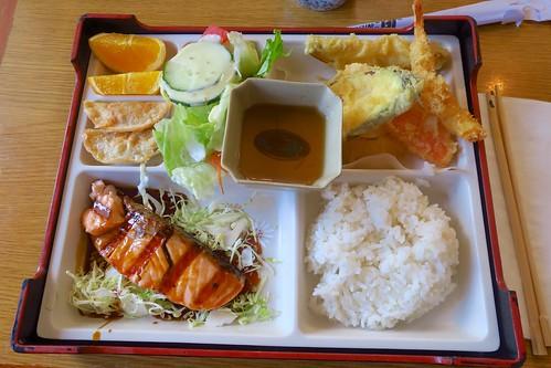 Salmon Teriyaki & Tempura Bento