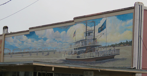 Steamboat mural