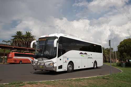 The Oxley Explorer (40) Bonluck President on rail replacement at Tamworth Station