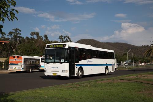 Tamworth Buslines (30) Volvo B7R/Bustech SBV at Tamworth Station