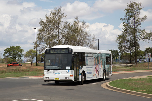 Dubbo Buslines (1) Volvo B7RLE/Bustech outside the Tamworth Convention Centre