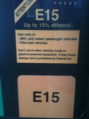 Flex-Fuel up to 15% ethanol