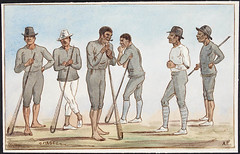 [Kahnawake] Caughnawaga lacrosse players: study of five figures / Joueurs de crosse de Caughnawaga [Kahnawake] : étude de cinq personnages