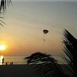 sunset paragliding by Alex Mullen