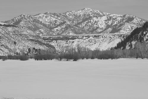 Frozen Field, background rising.