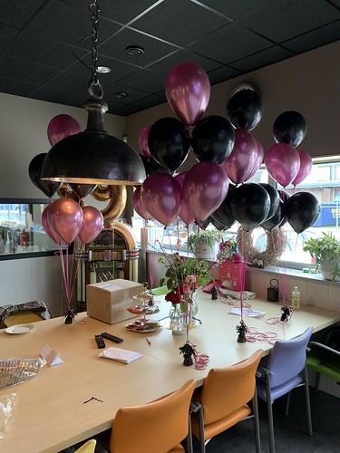 Tafeldecoratie 6ballonnen Krimpex Krimpen aan den IJssel