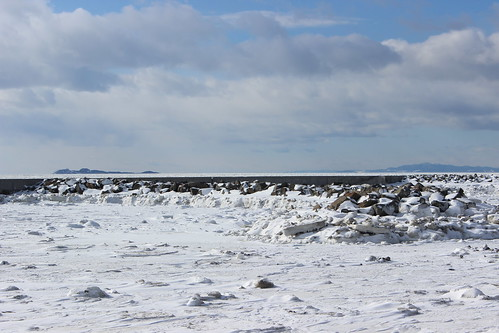 Riviere-Du-Loup (QC) Canada Picture : St Lawrence River in winter covered with ice in Riviere-du-Loup, Quebec